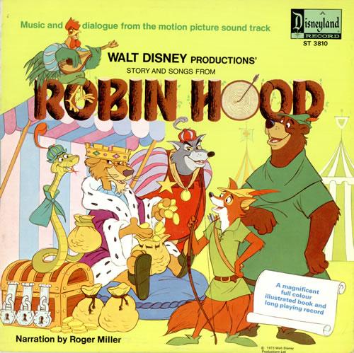 Robin Hood Soundtrack Disney 1973 Reminded Music